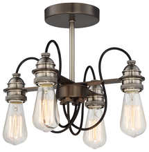 Minka-Lavery 4454-784 - 4 LIGHT SEMI-FLUSH
