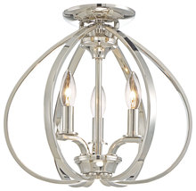 Minka-Lavery 4983-613 - 3 LIGHT SEMI-FLUSH