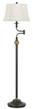 CAL Lighting BO-2586SWFL - 100W ELLENTON TWO TONE SWING ARM FLOOR LAMP