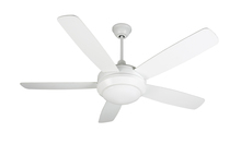 "Craftmade HE52W5 - Helios 52"" Ceiling Fan with Blades and Light in White"