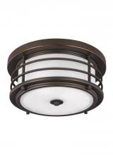 Sea Gull Canada 7824452-71 - Two Light Outdoor Ceiling Flush Mount