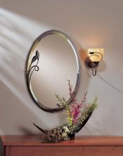 Hubbardton Forge 710014-10 - Beveled Oval Mirror with Leaf