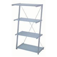 "Dainolite DBS-304-GL-SV - 30"" Wide 4 Tier Frosted Glass Shelves"