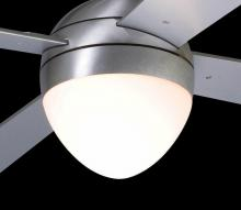 Modern Fan Co. 651-BA - Ball/Ball Flush/Stratos Light Kit; 18W GU24 Energy Saving CFL; Brushed Aluminum/Opal Glass