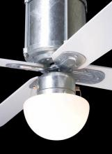 Modern Fan Co. 952-GV - Industry Light Lit; 75W G9 Halogen (closed); Galvanized/Opal Glass