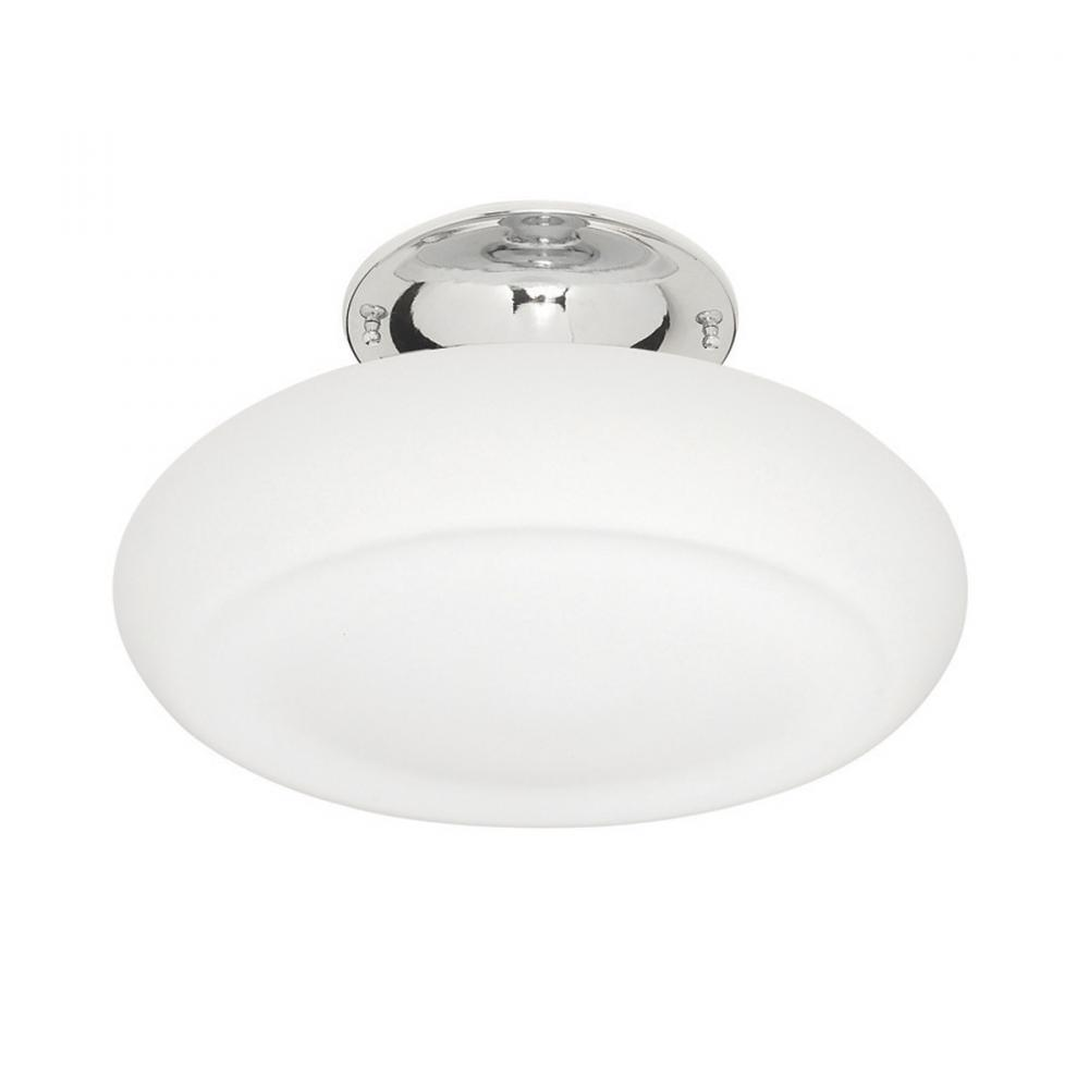 Berkeley Lighting Company in Berkeley, California, United States,  103DTZ8, Two Light Chrome Bowl Semi-Flush Mount, Zeitgeist