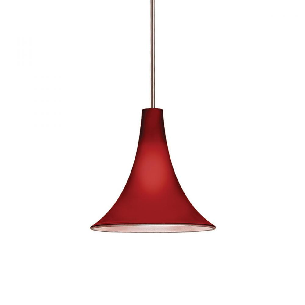 Berkeley Lighting Company in Berkeley, California, United States,  103GRNL, Pome Quick Connect Pendant - Burgundy Shade With Brushed Nickel Socket Set, Pome