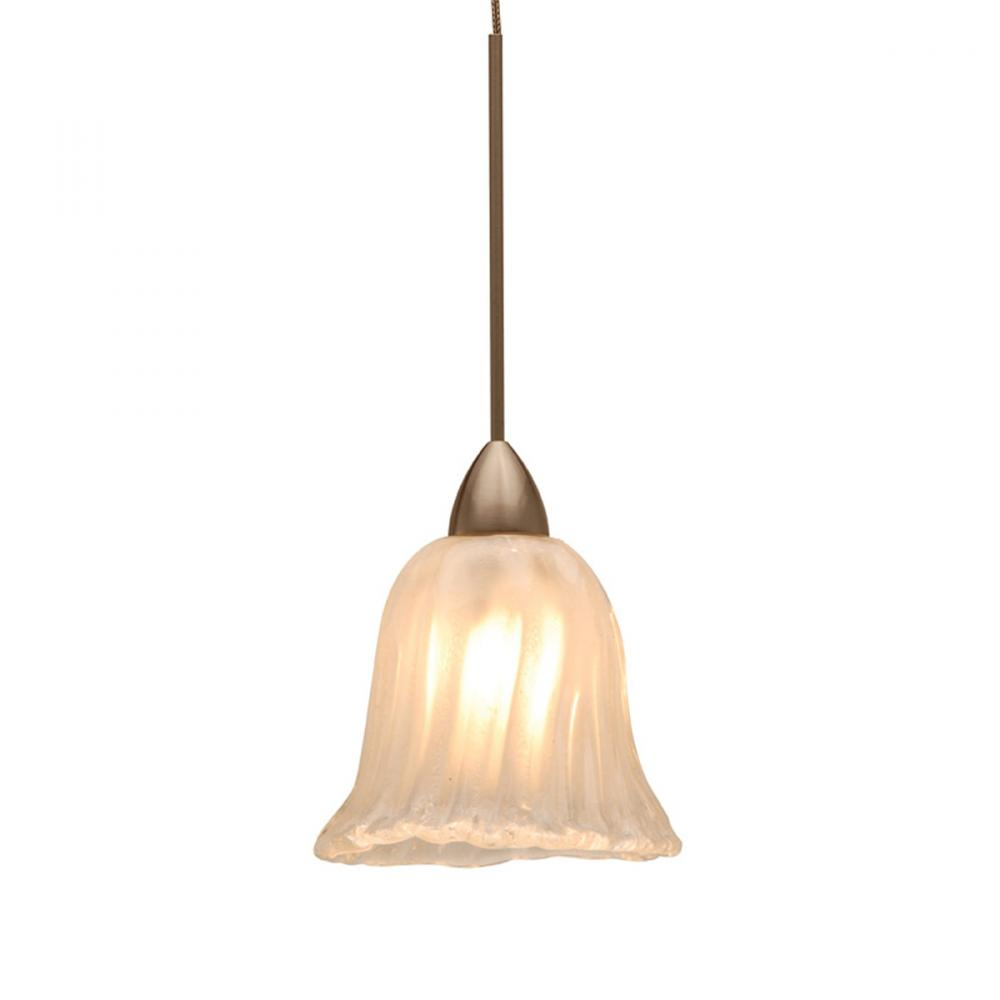 Berkeley Lighting Company in Berkeley, California, United States,  103GPQM, Florentine Quick Connect Pendant - Frosted Shade with Brushed Nickel Socket Set, Florentine