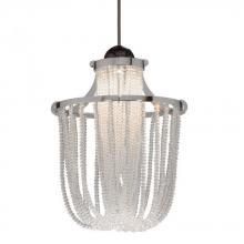 WAC US MP-LED332-CL/DB - Cascade LEDme Monopoint Pendant - Clear Shade with Dark Bronze Socket Set, Canopy Included