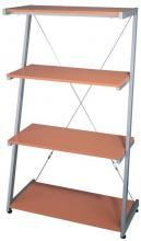 "Lite Source Inc. LSH-5600 - 4-Tier Shelf, Silver/Beech, 30""Wx14.5""Dx51""H"