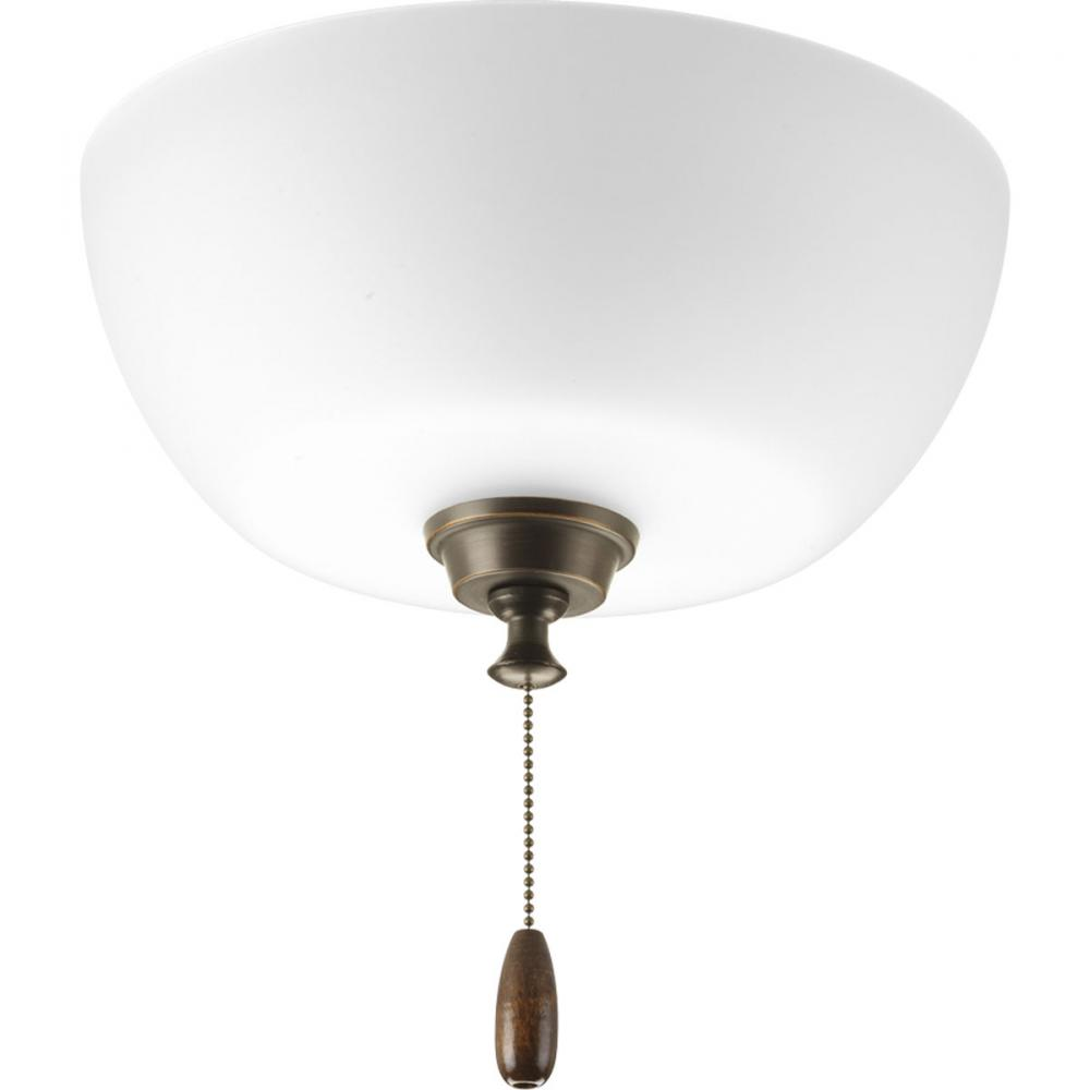 Berkeley Lighting Company in Berkeley, California, United States, Progress P2649-20, 3-Lt. ceiling fan light, Wisten