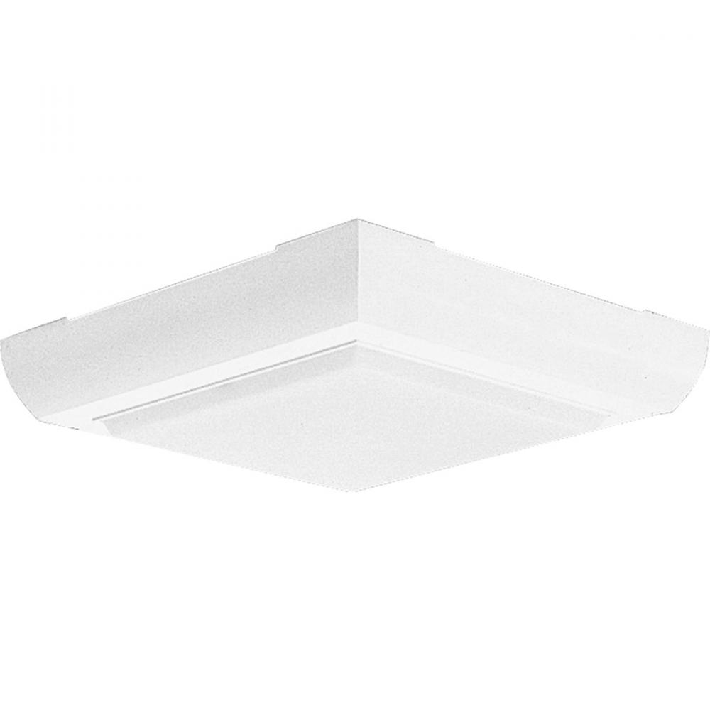 Berkeley Lighting Company in Berkeley, California, United States,  1DEHY, Two Light White White Glass Outdoor Flush Mount, Squares