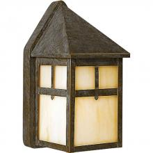 Progress P5759-46 - One Light Weathered Bronze Light Honey Art Glass Wall Lantern