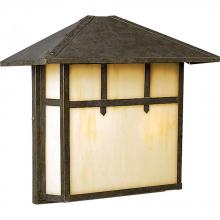 Progress P5768-46 - Two Light Weathered Bronze Light Honey Art Glass Wall Lantern