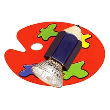 Eglo 87353A - 1X50W Childrens Wall Light w/ Multi Color Glass