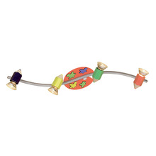Eglo 87356A - 4X50W Wall/Ceiling Light w/ Multi Color Glass