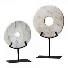 Cyan Designs 02309 - Lg. White Disk On Stand