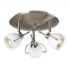 PLC Lighting 5358SN - PLC 3 Light Ceiling Light Focus Collection 5358 SN