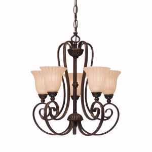 Berkeley Lighting Company in Berkeley, California, United States,  ADY6M, Mini Chandelier 5Lt, Willowmore