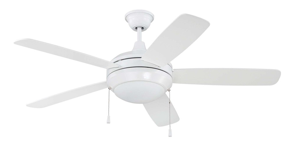 "Berkeley Lighting Company in Berkeley, California, United States,  TH5J, 52"" Ceiling Fan with Blades and Light Kit, Helios"