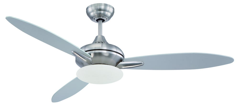 "Berkeley Lighting Company in Berkeley, California, United States,  P9KT, Loris 52"" Ceiling Fan with Blades and Light in Stainless Steel, Loris"