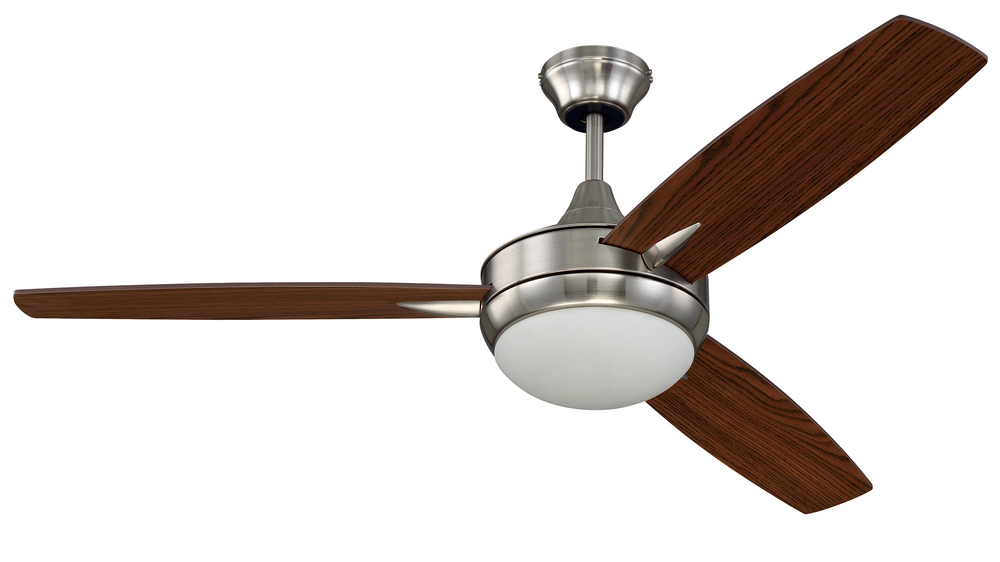"Berkeley Lighting Company in Berkeley, California, United States,  TH6P, 52"" Ceiling Fan with Blades and Light Kit, Targas"