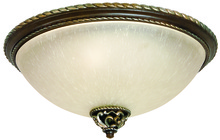 Craftmade 7517AGVM3 - Mia 3 Light Flushmount in Aged Bronze/Vintage Madera