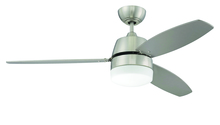 "Craftmade BEL52BNK3CRW - Beltre 52"" Ceiling Fan with Blades and Light in Brushed Polished Nickel"