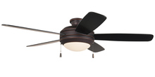 "Craftmade HE52OBG5 - Helios 52"" Ceiling Fan with Blades and Light in Oiled Bronze Gilded"