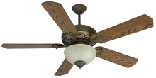 "Craftmade K10238 - Mia 52"" Ceiling Fan Kit with Light Kit in Aged Bronze/Vintage Madera"