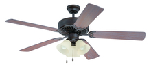 "Craftmade K11117 - Pro Builder 206 52"" Ceiling Fan Kit with Light Kit in Aged Bronze Textured"
