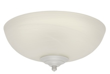 Craftmade LKE74CFL - 2 Light Elegance Bowl Fan Light Kit with White Satin Glass