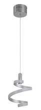Craftmade P816MSCH-LED - 1 Light LED Mini Pendant in Matte Silver and Chrome