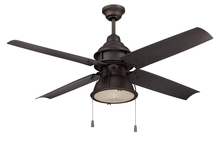 "Craftmade PAR52ESP4 - Port Arbor 52"" Ceiling Fan with Blades and Light in Espresso"