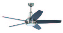 "Craftmade TAN56BNK5 - Tangent 56"" Ceiling Fan with Blades and Light in Brushed Polished Nickel"