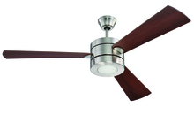 "Craftmade TRI54BNK3 - Triad 54"" Ceiling Fan with Blades and LED Light Kit in Brushed Polished Nickel"