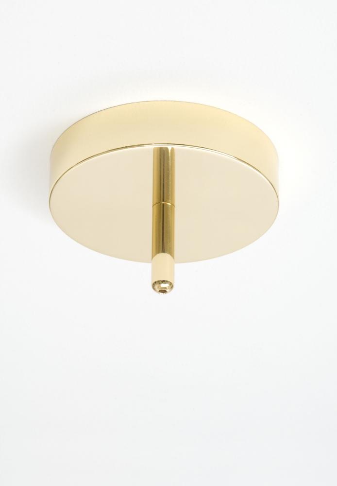 One Light Polished Brass Directional Flush Mount