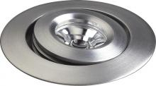 Alico WLE133C32K-0-98 - Saucer LED Button Light In Brushed Aluminum