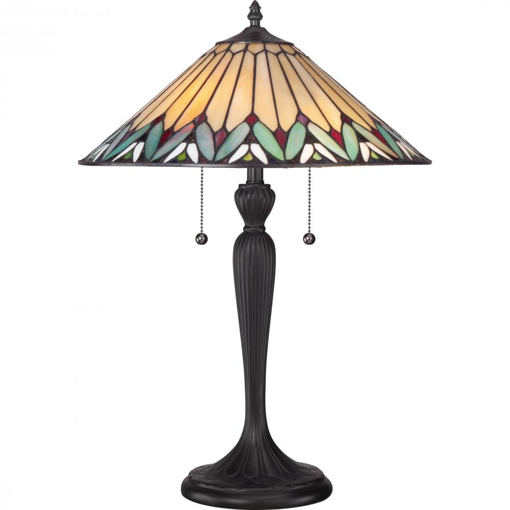 Berkeley Lighting Company in Berkeley, California, United States, Quoizel TF1433T, Tiffany Table Lamp, Tiffany