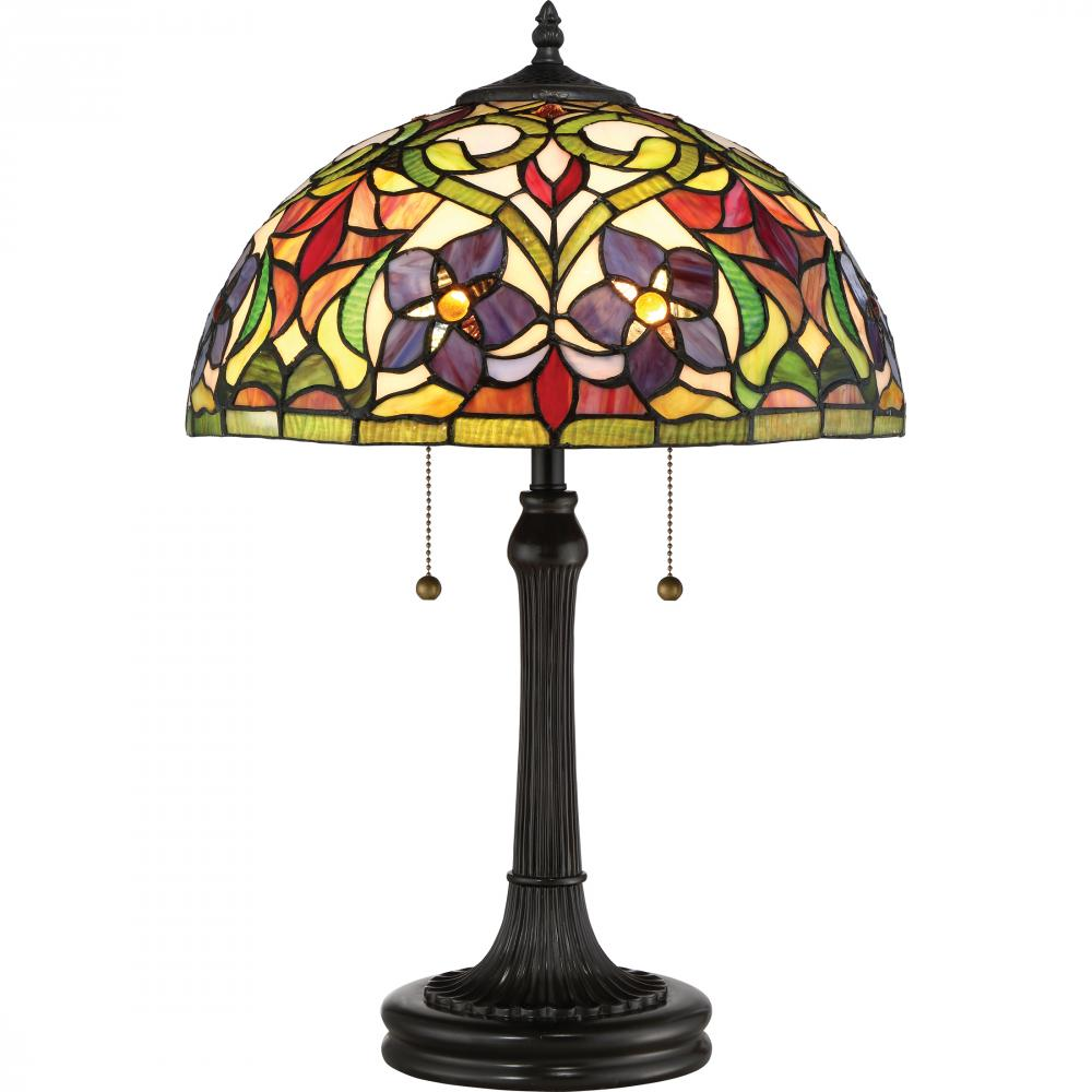 Berkeley Lighting Company in Berkeley, California, United States, Quoizel TFVT6323VB, Violets Table Lamp, Violets