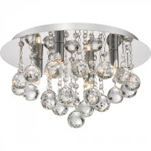 Quoizel BRX1614C - Bordeaux With Clear Crystal Flush Mount