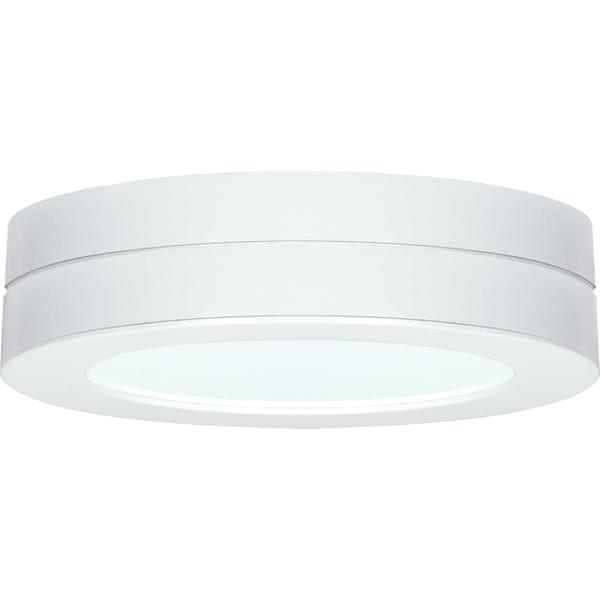 "Berkeley Lighting Company in Berkeley, California, United States,  L9AAV, Battery backup module for flush mount LED fixture; 7"" round; White finish,"