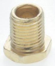 Satco Products Inc. 90/637 - Hexagon Head Nipples - Brass Plated-1/8IP 3/8""