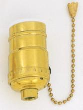 Satco Products Inc. S70/411 - Socket; Pull Chain; Gilt Finish; Standard