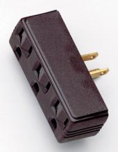Satco Products Inc. S70/547 - BROWN TRIPLE TAP ADAPTER