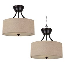Sea Gull Canada 77952-710 - Two Light Semi-Flush Convertible Pendant
