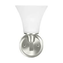 Sea Gull 4113201BLE-962 - Fluorescent Metcalf One Light Wall / Bath in Brushed Nickel with Satin Etched Glass