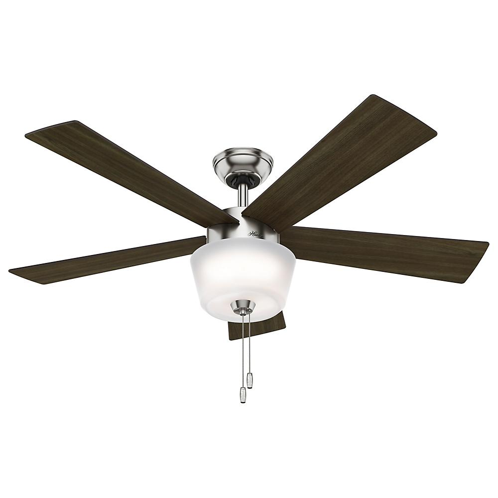 "Berkeley Lighting Company in Berkeley, California, United States,  402ZL5D, 52"" Ceiling Fan with Light, Hembree"