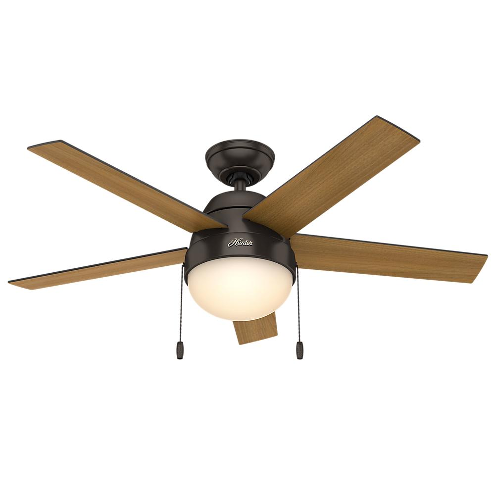 "Berkeley Lighting Company in Berkeley, California, United States,  402ZM2A, 46"" Ceiling Fan with Light, Anslee"