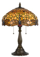 "CAL Lighting BO-2372TB - 23"" Height Zinc Cast Table Lamp In Antique Brass"